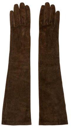 Dolce & GabbanaDolce & Gabbana Suede Long Gloves