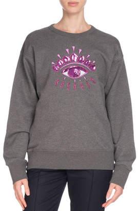 Kenzo Sequin Eye Graphic Crewneck Sweatshirt