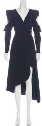Self-Portrait Asymmetrical Midi Wrap Dress w/ Tags