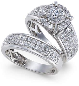 Macy's Diamond Pavé Bridal Set (1-1/2 ct. t.w.) in 14k White Gold