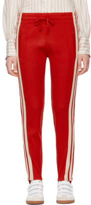 Etoile Isabel Marant Red Doriann Stirrup Lounge Pants