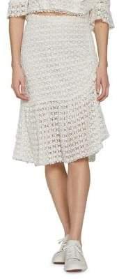 Walter Baker Eyelet Midi Skirt