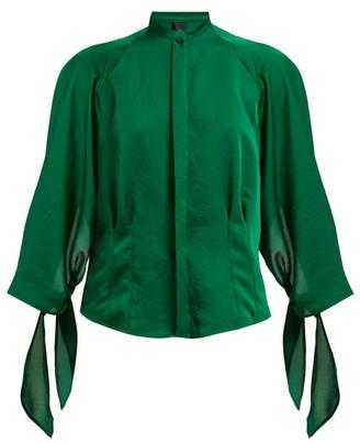 5392f885c3b2e1 Petar Petrov Belfair Silk Blend Satin Blouse - Womens - Green