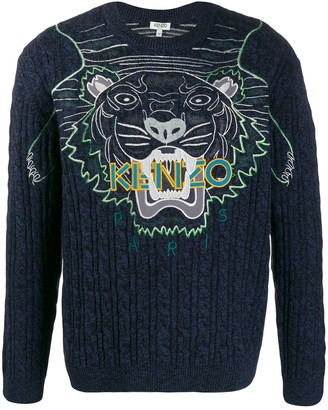 Kenzo embroidered tiger logo sweater