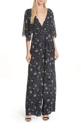 Nicholas Ditsy Floral Print Silk Jumpsuit