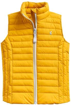Joules Girls Croft Packable Padded Gilet - Yellow