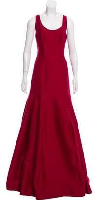 Halston Flare Sleeveless Gown