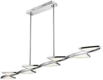 Filament Design Aeon 1-Light 65-Inch LED Island Light in Chrome