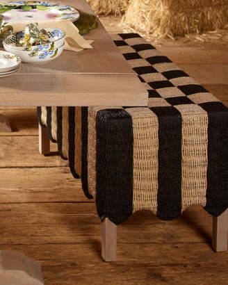 Mackenzie Childs Striped Grange Bench