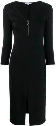 Patrizia Pepe V-neck zipper dress