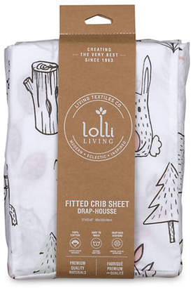 LOLLI LIVING Baby's Kayden Woodland Cotton Crib Fitted Sheet