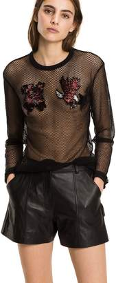 Tommy Hilfiger Long-Sleeve Mesh T-Shirt