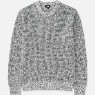 Uniqlo MEN Waffle Crew Neck Long Sleeve Sweater