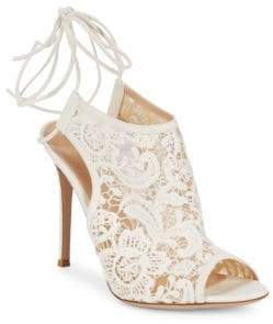 Gianvito Rossi Embroidered Ankle Strap Sandals