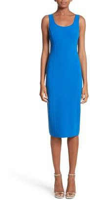 Michael Kors Stretch Wool Scoopneck Sheath Dress