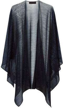 Talbot Runhof Lurex Sheer Cape
