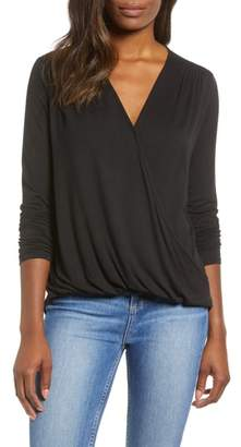 Gibson Surplice Knit Top