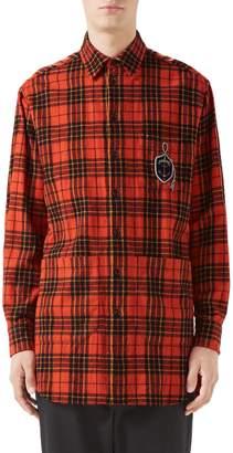 Gucci Plaid Flannel Long Sport Shirt
