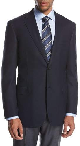 Brioni Brioni Ravello Wool Two-Button Sport Coat, Navy Blue