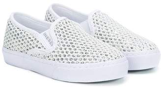 Diesel sparkly slip-on sneakers