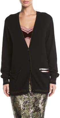 Le Superbe The BFS Glitter Cashmere Cardigan