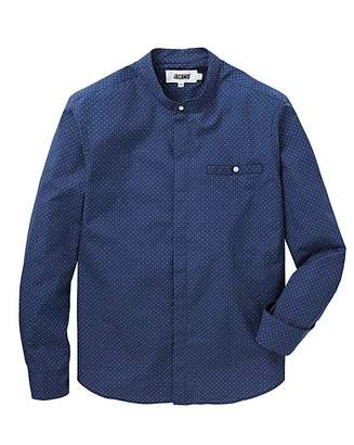Jacamo Grandad L/S Printed Shirt Reg