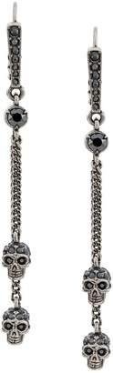 Alexander McQueen chain skull earrings