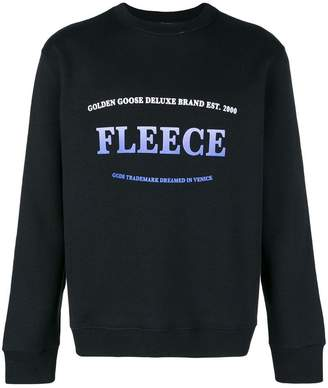 Golden Goose 'Fleece' print sweater