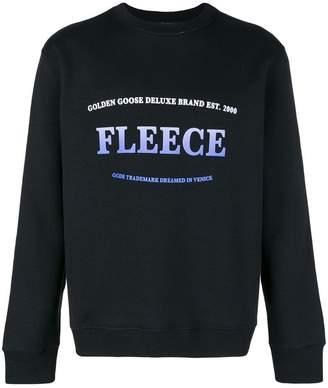 Golden Goose 'Fleece' print sweater