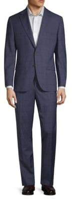 Jack Victor Windowpane Wool Suit
