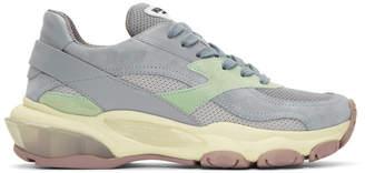 Valentino Silver Garavani Bounce Sneakers