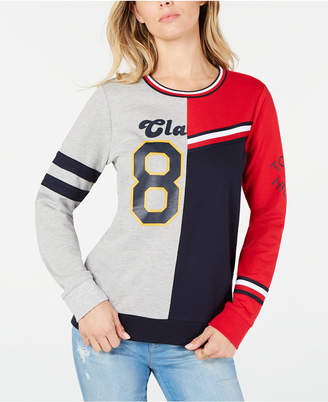 Tommy Hilfiger Colorblocked Graphic Sweatshirt