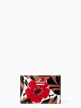 Kate Spade Cameron street poppy field card holder