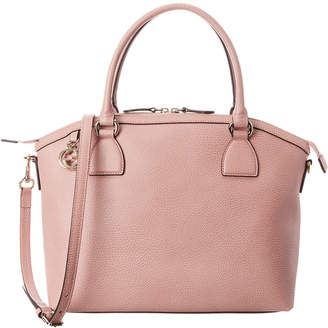 Gucci Pink Leather Satchel