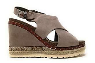 8549377dbd87 Xti Women s 48920 Platform Sandals Brown Taupe
