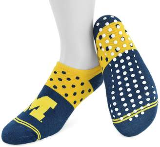 NCAA Women's Mojo Michigan Wolverines Speckled No-Show Grip Socks
