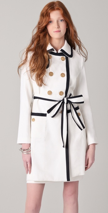 Milly Piped Combo Trench Coat