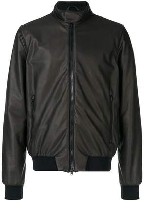 Herno faux leather bomber jacket