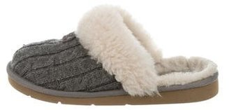 UGG Australia Knit Round-Toe Slippers $65 thestylecure.com
