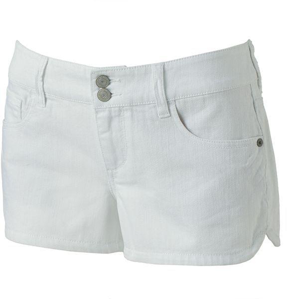 So ® denim shortie shorts - juniors