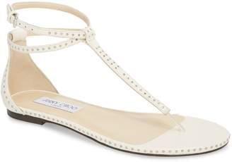Jimmy Choo Afia Studded Flat Sandal