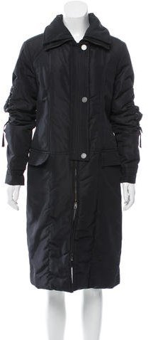 ValentinoValentino Eyelet-Accented Long Coat