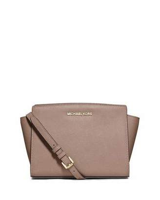 Michael Kors Selma Medium Messenger Bag, Dark Dune $228 thestylecure.com