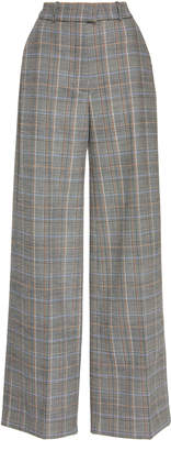 Martin Grant Checked Wool-Blend Wide-Leg Pants