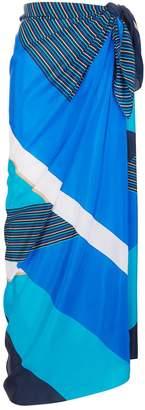 Gottex Geometric Stripe Sarong
