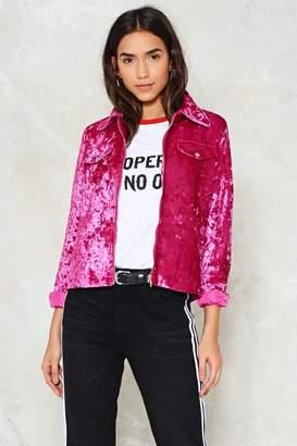 Nasty Gal Crush On You Velvet Jacket