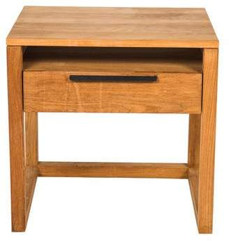 Indonesian Wood Bedside Table