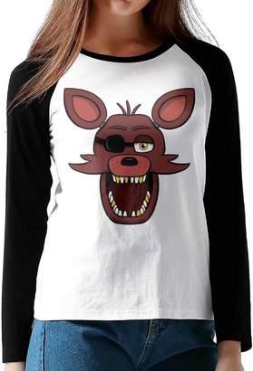 Freddy GUOZX Womens Five Nights At S Foxy Shirt Design T-Shirts Long Sleeve Shirt S