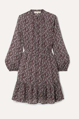 Vanessa Bruno Manuela Printed Gauze Mini Dress
