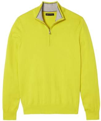 Banana Republic Premium Cotton Cashmere Half-Zip Sweater